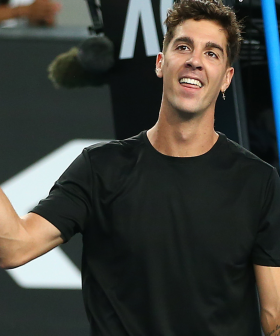 Aussie Tennis Player Thanasi Kokkinakis Is Rocking $6 Kmart Tees On Court
