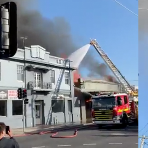 Firefighters Battle Massive Blaze Next To Preston Hotel