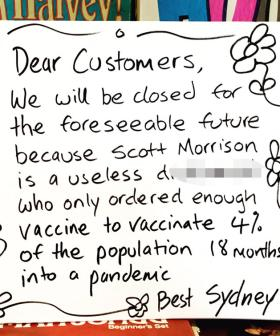This Shop Owner Has A Brutal Message For ScoMo After Being Forced To Close During Lockdown