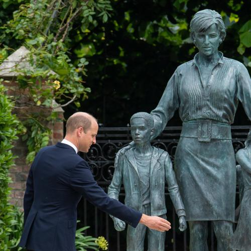 'We Wish She Were Still With Us': Prince William & Harry Reunite For Princess Diana's Statue Unveiling