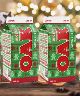 Oak Has Dropped Gingerbread Flavoured Milk For The Festive Season